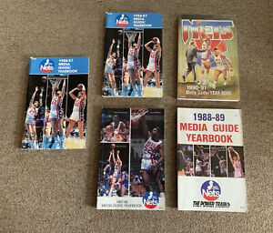 5 New Jersey Nets Media Guides 1986/87, 87/88, 88/89, 90/91 Buck Williams