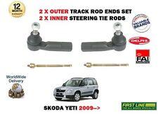 Per Skoda Yeti + 4x4 2009 - > 2x ESTERNO + 2x INNER STERZO TRACK Rack TIE ROD ENDS