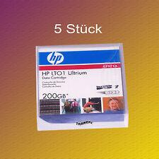 5 Stück, HP LTO 1, C7971A, 100/200 GB, Datenkassette Data Cartridge, NEU & OVP