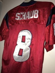 Reebok On Field Jersey Houston Texans Matt Schaub Red Pro Team Edition Sewn Sz48