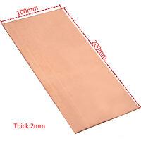 1PC 99.99% Pure Copper Cu Metal Sheet Plate 2mm*100mm*200mm