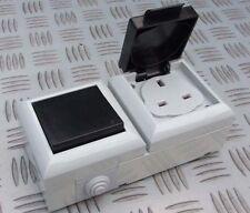 EXTERNAL OUTDOOR MAINS POWER 13A SOCKET & 10A SPDT SWITCH 230V IP54