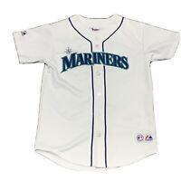 VTG Majestic Seattle Mariners Ichiro Suzuki 51 White Baseball Jersey S Sewn