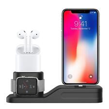 [3 in 1] Fast Charging Station Stand Dock for Apple Watch, AirPods, iPhone X/8/7