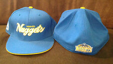 Denver Nuggets REEBOK Fitted Hat Authentic NBA Headwear Blue/Yellow Size 7 3/4