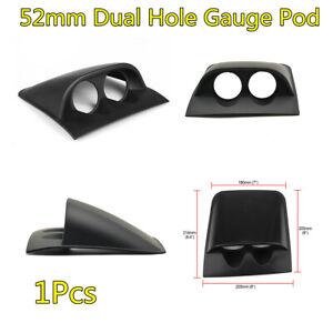 "1Pcs 2"" 52mm Black Dual Hole Car Dash Gauge Pod Meter Mount Holder Accessories"