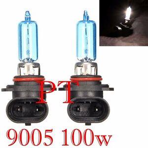 9005 HB3 12V 100W Halogen Headlight Light Bulbs 5000K Super White #y1 High Beam