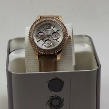 NEW Authentic Fossil Stella Rose Gold Chronograph Kristalle Damen es3816 Uhr