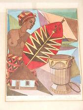 Rudi Müllers-África-colorierte original-aguafuerte - 50er años