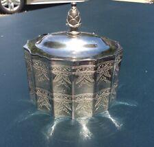 Vtg Godinger Silver Jewelry Box Patina