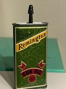 Vintage Remington 3oz. Metal Gun Oil Handy Oiler Full Can