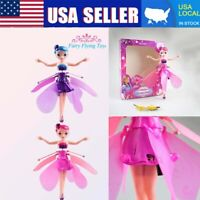 Flying Fairy Doll Induction Control RC Helicopter Kids Child Toys Fly Toy Gift