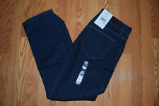 NWT Mens Perry Ellis Slim Fit Dark Indigo Straight Fit Jeans Size W 34 L 32