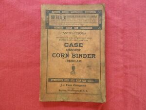 "1931 CASE ""OSBORNE CORN BINDER"" OPERATORS & PARTS CATALOG MANUAL RARE VERY GOOD"