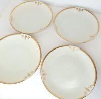 """Art Nouveau Deco Plates Set of 4 Hand Painted Porcelain 8 3/8"""" Bavaria Germany"""