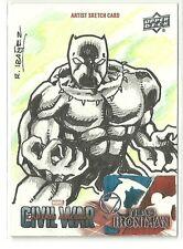 Upper Deck Marvel Captain America Civil War Black Panther Sketch Rogelio Ibanez