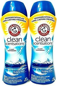 2 Arm & Hammer 24 Oz Clean Scentsations Purifying Waters In Wash Scent Booster