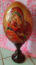 MOTHER OF GOD of Vladimir  icon -egg handpainted LARGE