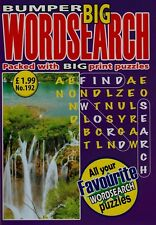 Bumper Big Wordsearch. Packed With Big Print Puzzles. Volume 192