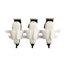 Barbers Triple Clipper Holder. Compatable with Most Clippers Inc Wahl  [ white ]