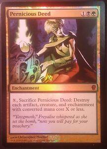 Action Pernicieuse Conspiracy PREMIUM / FOIL  - Pernicious Deed NM - Magic Mtg -