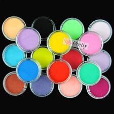 18 Mix Colors Acrylic Nail Art Tips UV Gel Powder Dust 3D DIY Decoration Set
