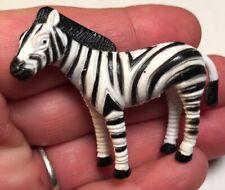 Zebra Miniature Figurine 2� Collectible Action Figure Toy Pvc