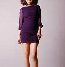 Topshop Boat Neck 3/4 Sleeve Mini Dresses for Women