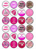 24 x Edible Personalised Icing Rice Paper Hen Party Cake Cupcake Toppers