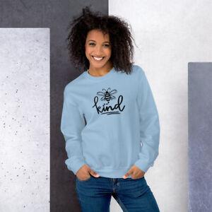 Be Kind Bee Kindness Gildan Sweatshirt - Adult Unisex - Gray, Blue, Pink, White