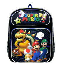 Nintendo Super Mario Luigi Bowser and Friends Medium Backpack/School Bag Black