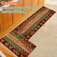 2PCS Kitchen Floor Area Rug Non-Slip Bathroom Absorbent Door Pad Mat Carpet