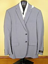 $650 New Jos A Bank JOSEPH solid grey suit 39 R 33 W Slim fit