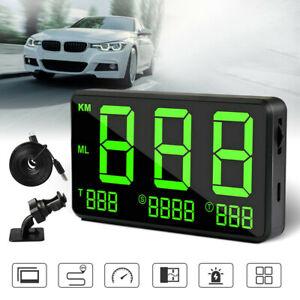 Motorcycle Car Truck GPS MPH KM/h HUD Digital Display Speedometer Alarm Black