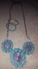Necklace and Stone Earrings Lucky Brand Stone And Leather