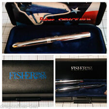 Vintage FISHER SPACE PEN with Case and Pamphlet - WORKS