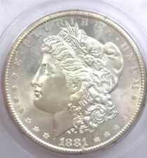 1881-S MORGAN SILVER DOLLAR MS-63 IN A OLD GREEN LABEL PCGS HOLDER! CAC