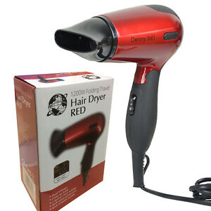1200W FOLDING TRAVEL HAIR DRYER CONCENTRATOR DUAL VOLTAGE HEAT HAIRDRYER HOT RED