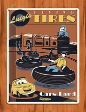 "TIN-UPS Tin Sign ""Disney's Carsland Luigi's Flying Tires"" Cars Ride Art Poster"