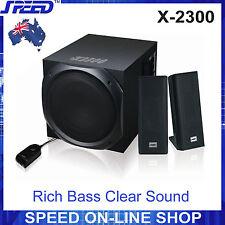 SPEED X-2300 2.1 CH Speaker System for Desktop PC, MP3, iPad, iPhone