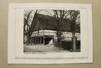 BB4) Architektur Bauernhof Lüdersdorf Uckermark 1937 Löwighus Fachwerkhaus