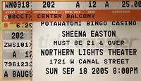 Sheena Easton Genuine Used Concert Ticket Stub