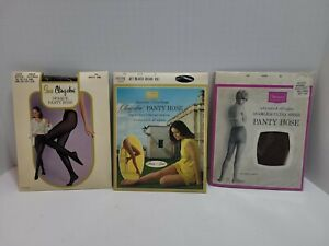 Lot of 3 vintage sears petite size panty hose new old stock