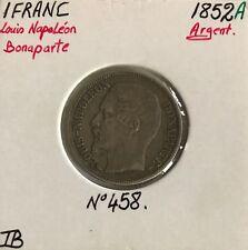 1 FRANC LOUIS-NAPOLEON BONAPARTE - 1852A - Monnaie en Argent // TB