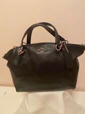 "Women's ""Coach Kelsey"" Black Pebble Leather Satchel Bag F36675 New w/o Tags"