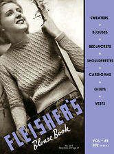 Fleisher's #49 c.1937 - Vintage Hand Knitting Pattern Book for Women's Sweaters