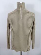 Chemise homme marlboro classics pull, pull, taille xl xlarge, beige, encolure zippée #BL1216