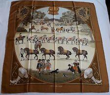 HERMES Foulard carré La Présentation de Chevaux  - Philippe Ledoux  1970 scarf