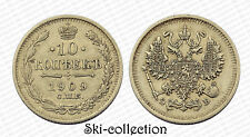 RUSSIE. 10 Kopek 1909 СПБ-ЭБ, Nicolas II°. Argent/ Silver. Россия