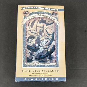 The Vile Village by Lemony Snicket Series Unfortunate Events Audio Book Cassette